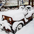 Rusty Jeep In Snow by Brian Wallace