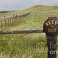 Rusty Keep Out Sign On Fence - California Usa by B Christopher