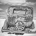 Rusty Old Car In The Snow by Edward Fielding