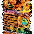 Rusty Old Truck by Warrena J Barnerd