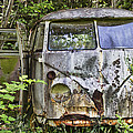 Rusty Old Vw Van by Peggy Collins