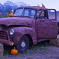 Rusty Truck With Pumpkins by Garry Gay