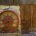 Rusty Wheel by Luther Fine Art