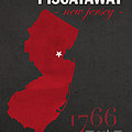 Rutgers University Scarlet Knights Piscataway Nj College Town State Map Poster Series No 092 by Design Turnpike