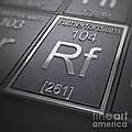 Rutherfordium Chemical Element by Science Picture Co