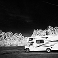 Rv Camping Van Parked At Valley Of Fire State Park Nevada Usa by Joe Fox