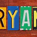 RYAN License Plate Name Sign Fun Kid Room Decor. by Design Turnpike