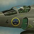 Saab Viggen Gruppo 4 Cockpit by Richard John Holden RA