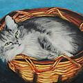 Sabrina In Her Basket by Jeanne Fischer