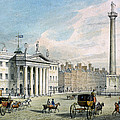 Sackville Street, Dublin, Showing The Post Office And Nelsons Column by Samuel Frederick Brocas