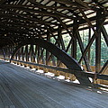 Saco River Covered Bridge Nh by Christiane Schulze Art And Photography