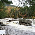 Saco River Rapids North Conway I by Christiane Schulze Art And Photography