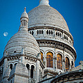 Sacre-coeur And Moon by Inge Johnsson