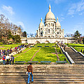 Sacre Coeur - Basilica Overlooking Paris by Mark E Tisdale