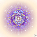 Sacred Geometry 140 by Endre Balogh