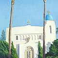 Sacred Heart Church Coronado by Mary Helmreich