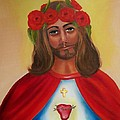 Sacred Heart- Crown Of Roses by Joni McPherson