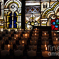 Sacred Heart Prayer Candles by Karl Greeson