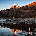 Sacred Mountain In Tibet - Mount Kailash by Kim Pin Tan