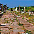 Sacred Road To Asclepion In Pergamum-turkey  by Ruth Hager