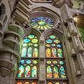 Sagrada Familia Window by Joan Carroll