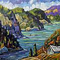 Saguenay Fjord By Prankearts by Richard T Pranke