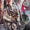 Sai Baba - Resting At Pushkar by Agnieszka Ledwon