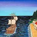 Sail At Dusk by Don Miller