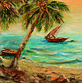 Sail Boats On Indian Ocean  by Sher Nasser