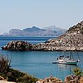 Sailboat At Anthony Quinn Bay by Lorraine Devon Wilke
