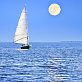 Sailboat At Full Moon by Elena Elisseeva