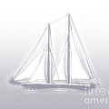 Sailboat Background Lavender by Methune Hively