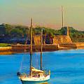 Da147 Sailboat By Daniel Adams by Daniel Adams