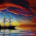 Sailboat Fractal by Shane Bechler