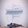 Sailboat In Fog by Jill Battaglia