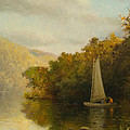 Sailboat On River by Arthur Quartley