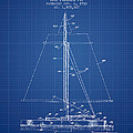 Sailboat Patent From 1932 - Blueprint by Aged Pixel