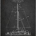 Sailboat Patent From 1932 - Dark by Aged Pixel