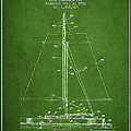 Sailboat Patent From 1932 - Green by Aged Pixel