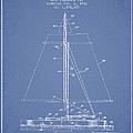 Sailboat Patent From 1932 - Light Blue by Aged Pixel