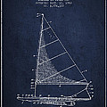 Sailboat Patent From 1962 - Navy Blue by Aged Pixel