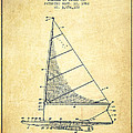 Sailboat Patent From 1962 - Vintage by Aged Pixel