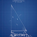 Sailboat Patent From 1991- Blueprint by Aged Pixel