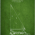 Sailboat Patent From 1991- Green by Aged Pixel