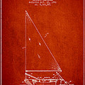 Sailboat Patent From 1991- Red by Aged Pixel