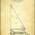 Sailboat Patent From 1991- Vintage by Aged Pixel