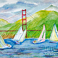 Sailboat Race At The Golden Gate by Walt Brodis
