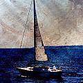 Sailboat Slow W Metal by Anita Burgermeister