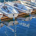 Sailboats And Dock by Cliff Wassmann
