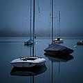 Sailboats At Dawn by Joe Mamer